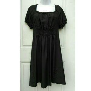 Silk Prada Dress Off the Shoulder Scoop Neck